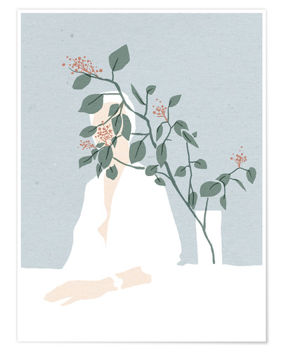 Poster Berry branches vase