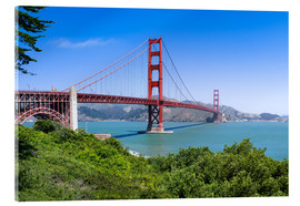 Tableau en verre acrylique  Golden Gate Bridge in San Francisco, California, USA - Jan Christopher Becke