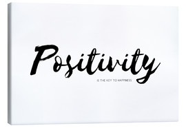 Toile  Positivity is the key to happiness - Ohkimiko