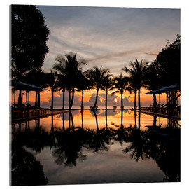 Tableau en verre acrylique  Luxury infinity pool on the Gulf of Thailand