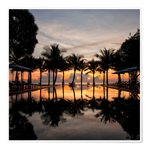 Poster Luxury infinity pool on the Gulf of Thailand