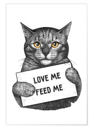 Poster Love me, feed me