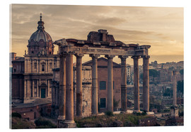 Tableau en verre acrylique  The Roman Forum at sunrise