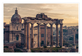 Poster  The Roman Forum at sunrise