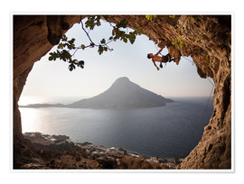 Poster  Rock climber on Kalymnos Island