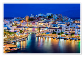Agios Nikolaos on the island of Crete