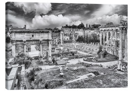 Tableau sur toile  ruins of the Roman Forum in Rome