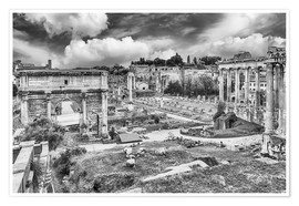 Poster  ruins of the Roman Forum in Rome