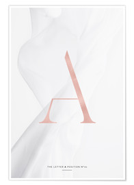Poster  ROSE GOLD LETTER COLLECTION A - Stephanie Wünsche