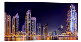 Verre acrylique  Panoramic view - Dubai Marina Bay