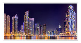Poster  Panoramic view - Dubai Marina Bay