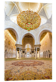 Verre acrylique  Gold sheen of the Sheikh Zayed Mosque
