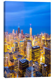 Tableau sur toile  Chicago City at night
