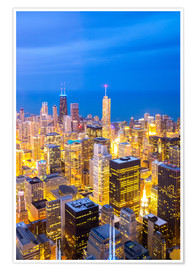 Poster  Chicago City at night
