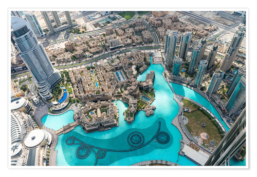 Poster Aerial view of Dubai