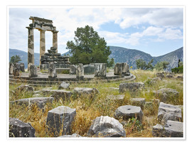 Poster Athena Pronaia Sanctuary - site of Delphi