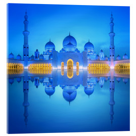 Verre acrylique  Sheikh Zayed Grand Mosque at blue