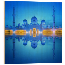 Bois  Sheikh Zayed Grand Mosque at blue