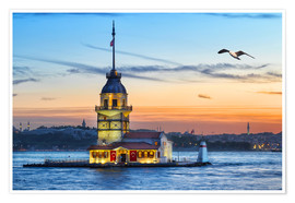 Poster  Maiden's Tower on the Bosphorus