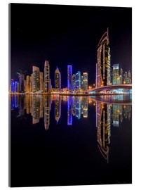 Verre acrylique  Dubai marina in deep black