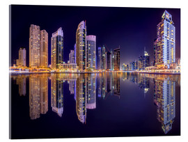Verre acrylique  The beauty of the marina in Dubai