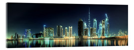 Verre acrylique  Panorama of the business houses of Dubai