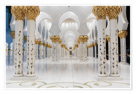 Poster  famous Sheikh Zayed mosque