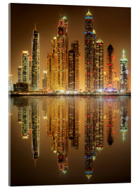Verre acrylique  Lighting the Dubai Marina Bay