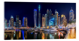 Verre acrylique  The fascination of Dubai Marina Bay