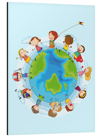 Tableau en aluminium  Enfants du monde - Kidz Collection