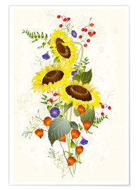 Poster  Bouquet de tournesol