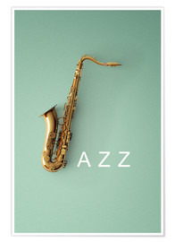 Poster  Saxophone on color III