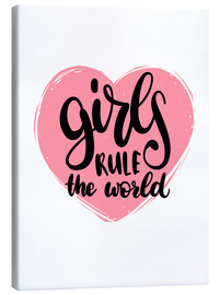 Tableau sur toile  Girls rule the world - Typobox