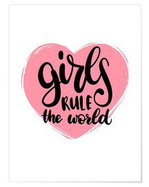 Poster  Girls rule the world - Typobox
