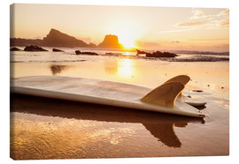 Toile  Surfboards at the beach