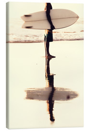 Toile  Surfer reflection