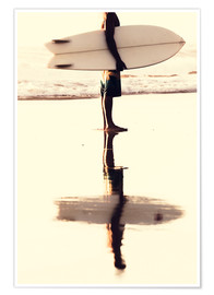 Poster  Surfer reflection