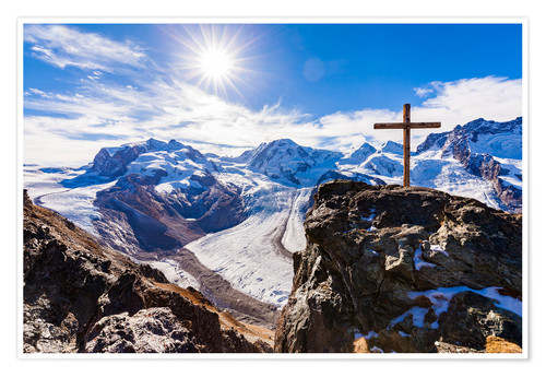 Poster Monte Rosa massif in Valais