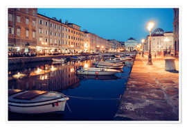 Poster Trieste - Canal Grande