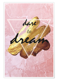 Poster  Dare to dream - Typobox