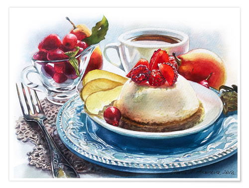 Poster Cheesecake aux fraises
