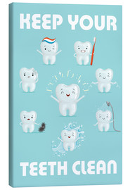 Tableau sur toile  Keep your teeth clean - Kidz Collection
