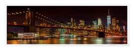 Poster Skyline de Manhattan et pont de Brooklyn
