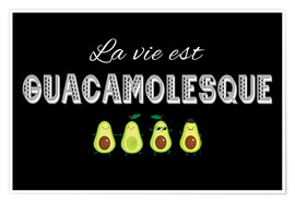 Poster  Guacamolesque - Typobox