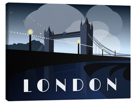 Tableau sur toile  London Tower Bridge Art Deco style - Alex Saberi
