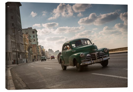 Toile  Cuban american car driving through Havana, Cuba. - Alex Saberi