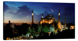 Tableau sur toile  View of Hagia Sophia after sunset