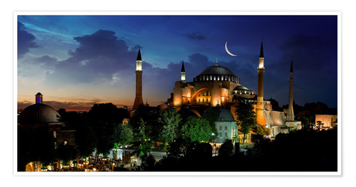 Poster View of Hagia Sophia after sunset