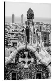 Alu-Dibond  Impressive architecture and mosaic art at Park Guell