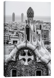 Tableau sur toile  Impressive architecture and mosaic art at Park Guell